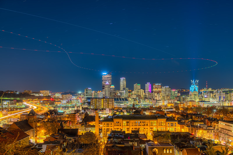 International Space Station over Pittsburgh