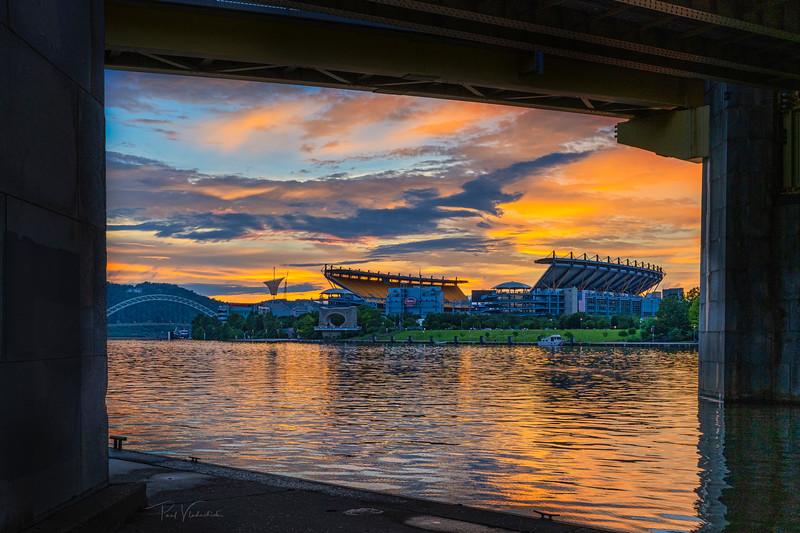 Sunset over Heinz Field - Pittsburgh Pennsylvania