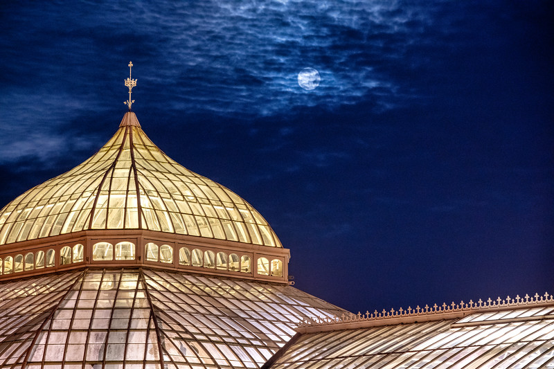 Moon over the Conservatory - Pittsburgh Pennsylvania