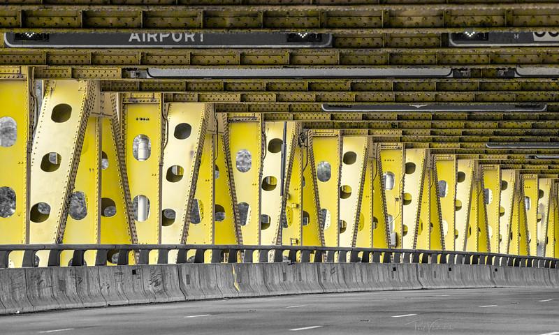 Lower Deck of the Fort Pitt Bridge - Pittsburgh Pennsylvania