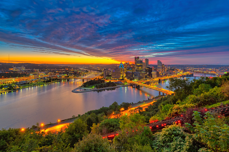 Orange Light of Dawn - Pittsburgh Pennsylvania