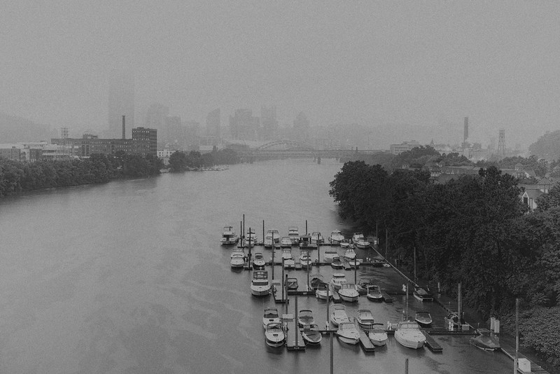 Dreary Day on the River - Pittsburgh Pennsylvania