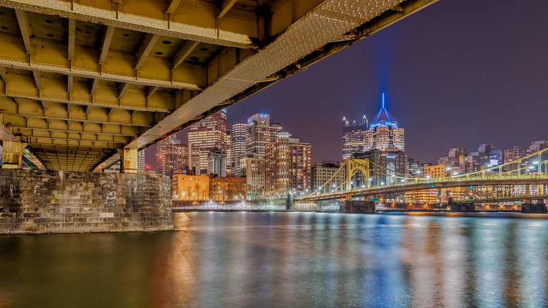 Under the Rachel Carson Bridge - Pittsburgh Pennsylvania