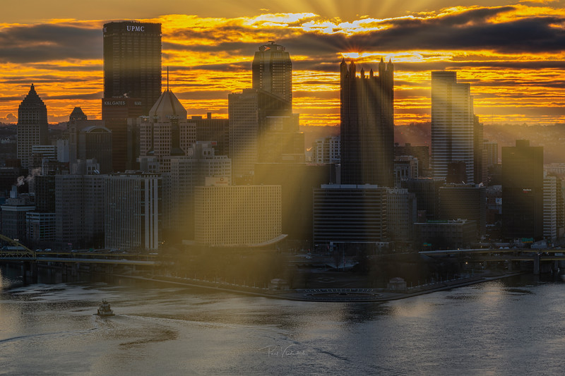 Sunrise over the Steel City - Pittsburgh Pennsylvania