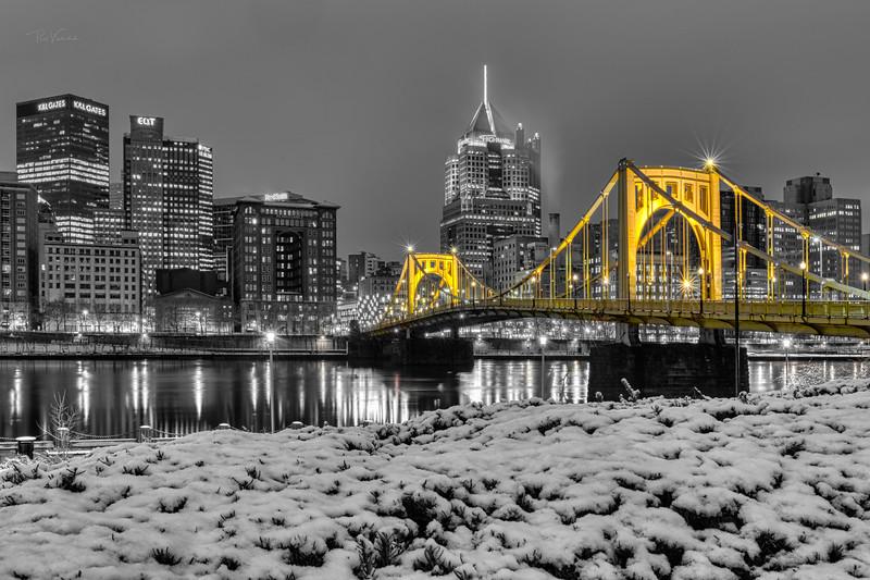 Roberto Clemente Bridge - Selective Color