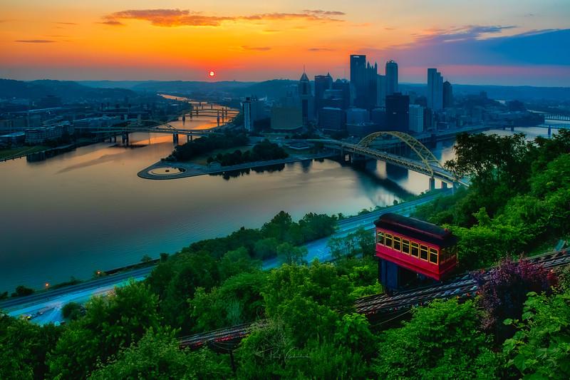 Hazy July Dawn - Pittsburgh Pennsylvania