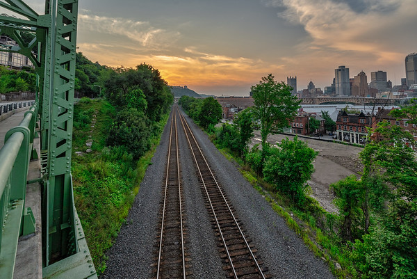 Railroad Tracks near the Southside - Pittsburgh Pennsylvania