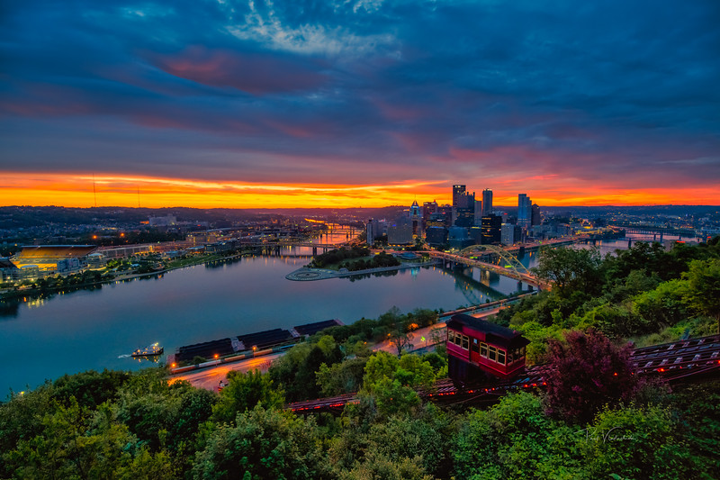 Mt Washington Sunrise - Pittsburgh Pennsylvania