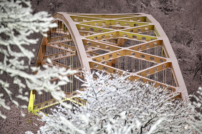 Fort Pitt Bridge after the Snowstorm #2