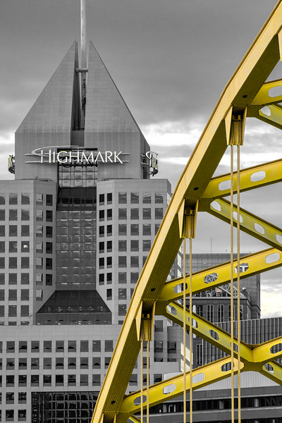 Fort Pitt Bridge and Highmark Building - PIttsburgh Pennsylvania