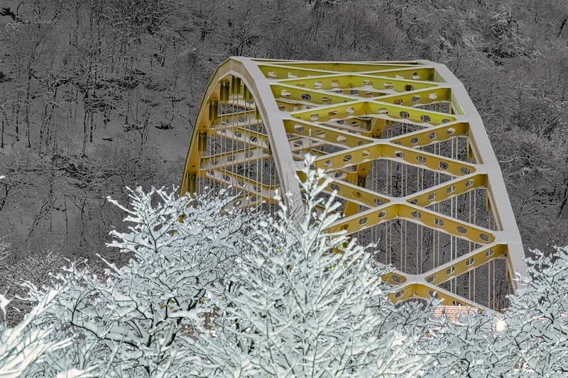Fort Pitt Bridge after the Snowstorm