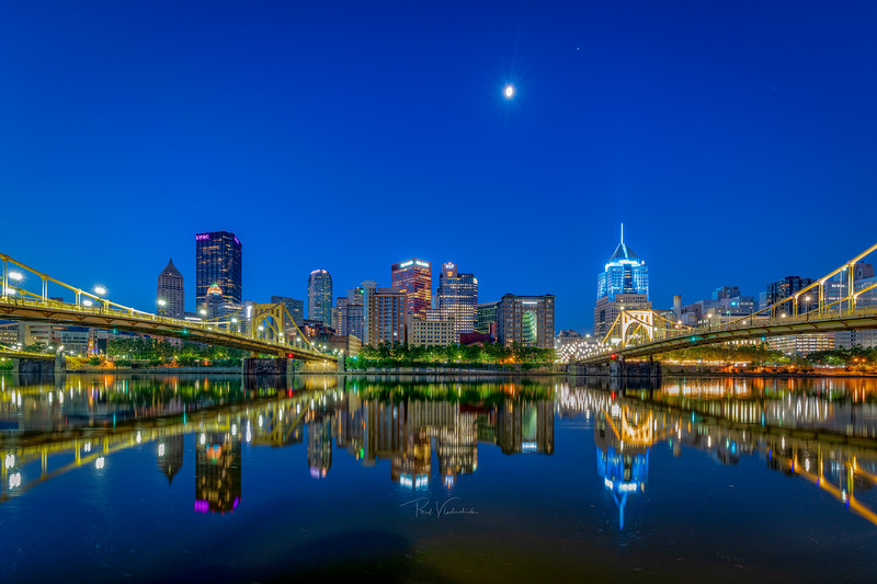 Reflections on the Allegheny River - Pittsburgh Pennsylvania