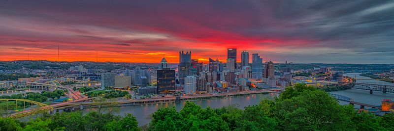 Firesky Dawn over the Steel City