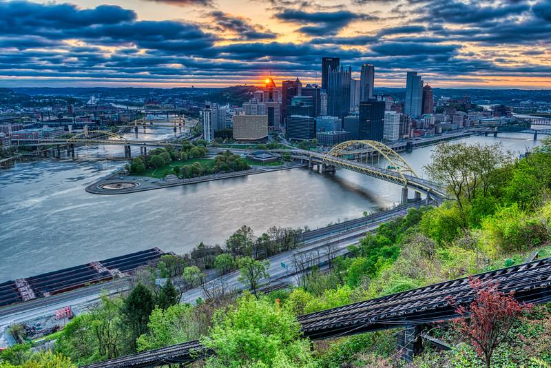 April Sunrise over Pittsburgh