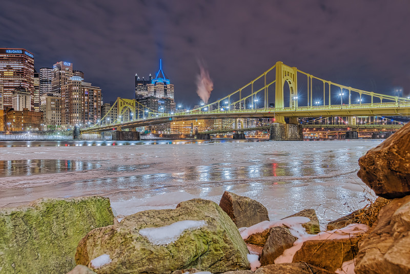 Ice on the River Allegheny - Pittsburgh Pennsylvania