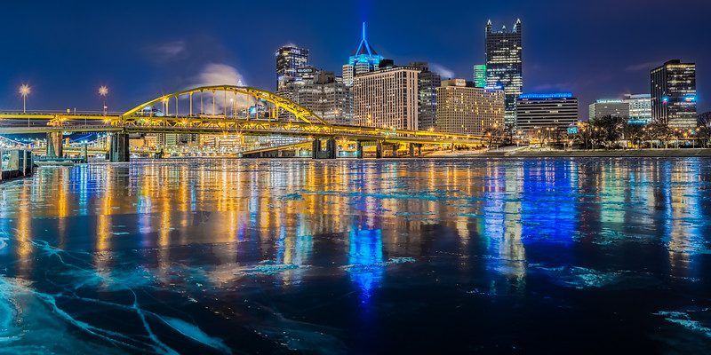 Reflections in Ice (2) - Pittsburgh Pennsylvania