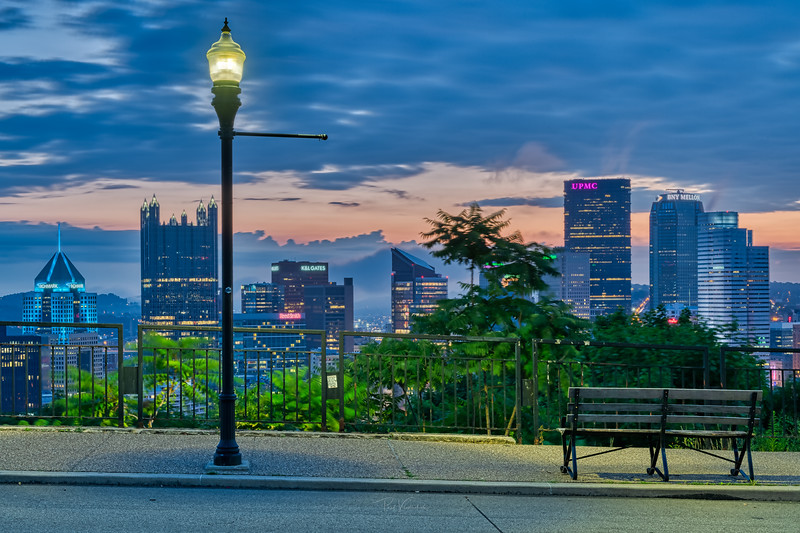 Grandview Ave on a Summer Dawn - Pittsburgh Pennsylvania