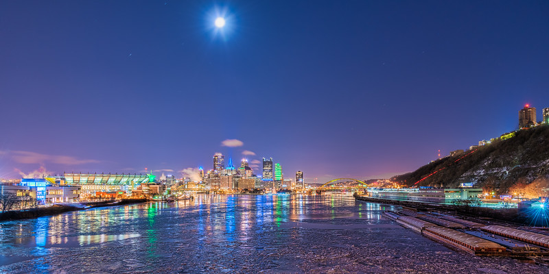 Pittsburgh and the Frozen Rivers - Pittsburgh Pennsylvania