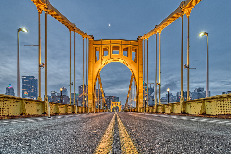 Roberto Clemente Bridge at Sunrise #2 - Pittsburgh Pennsylvania