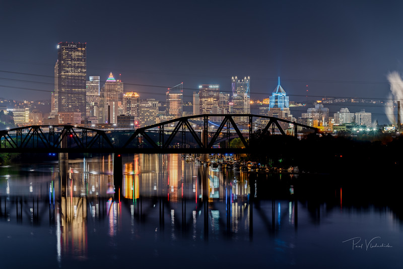 Downtown Pittsburgh from the 40th Street Bridge