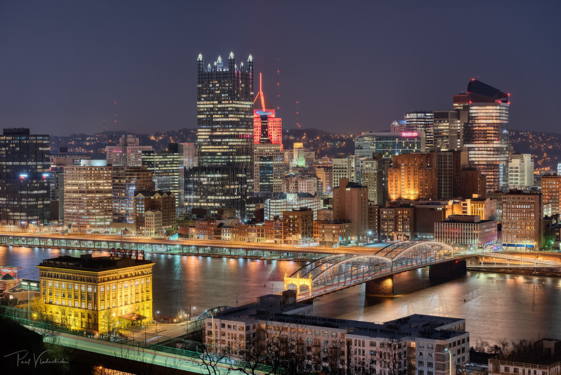 Smithfield Bridge and Downtown - Pittsburgh Pennsylvania