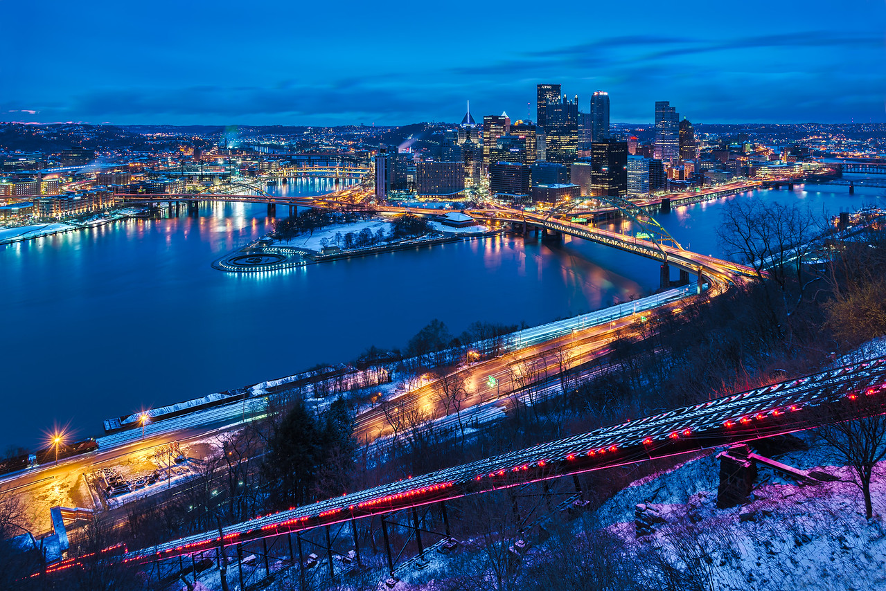Cold and Overcast Sunrise - Pittsburgh Pennsylvania