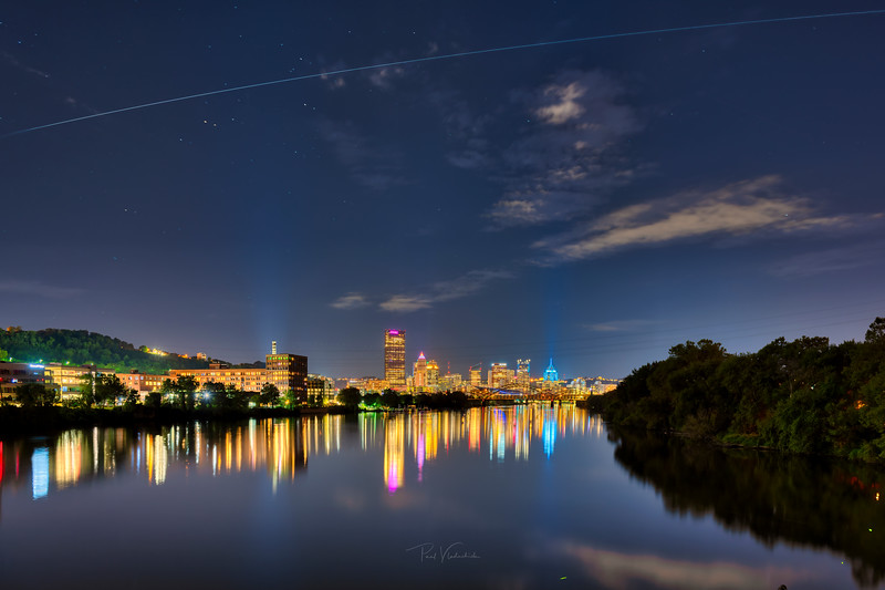 International Space Station over Pittsburgh Pennsylvania