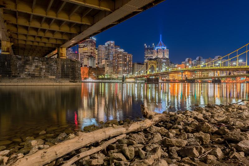 Downtown from Under the Rachel Carson Bridge
