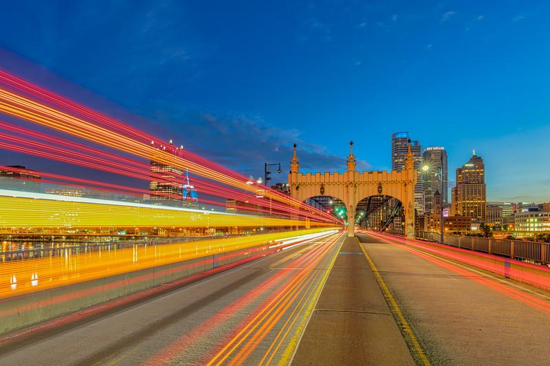 Smithfield Bridge at Dawn - Pittsburgh Pennsylvania