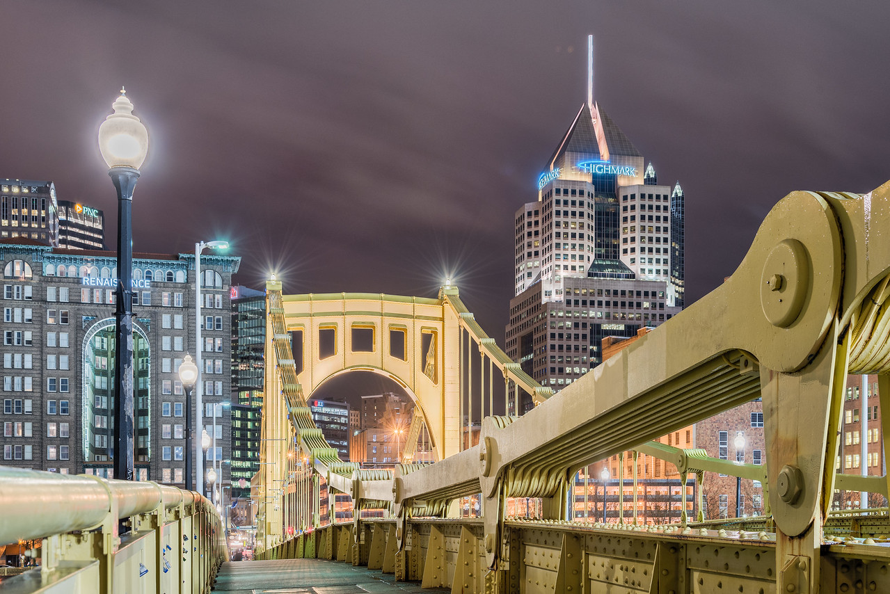 On the Deck of the Roberto Clemente Bridge - Pittsburgh Pennsylvania