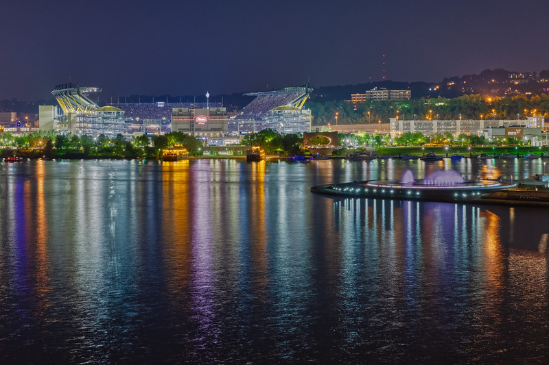 Heinz Field and the Point from the Ft. Pitt Bridge