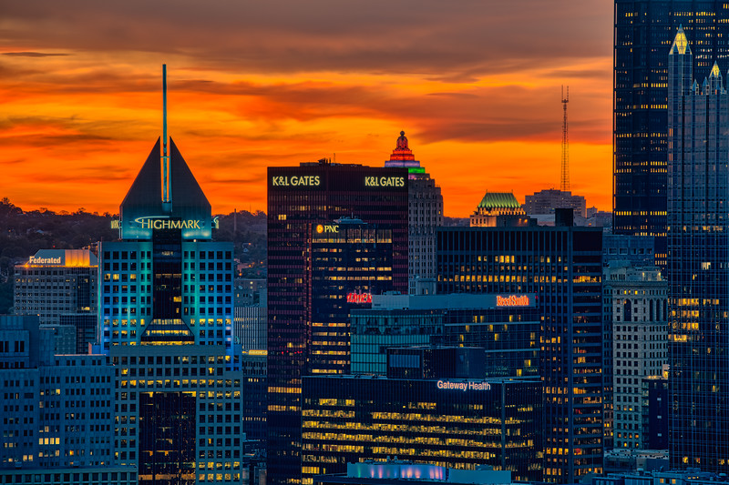 Sunrise and Skyscrapers - Pittsburgh Pennsylvania