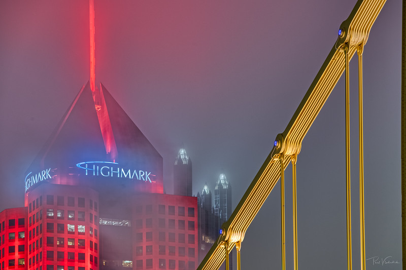 The Building, The Bridge, The Fog