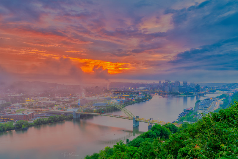 Foggy Dawn - Pittsburgh Pennsylvania
