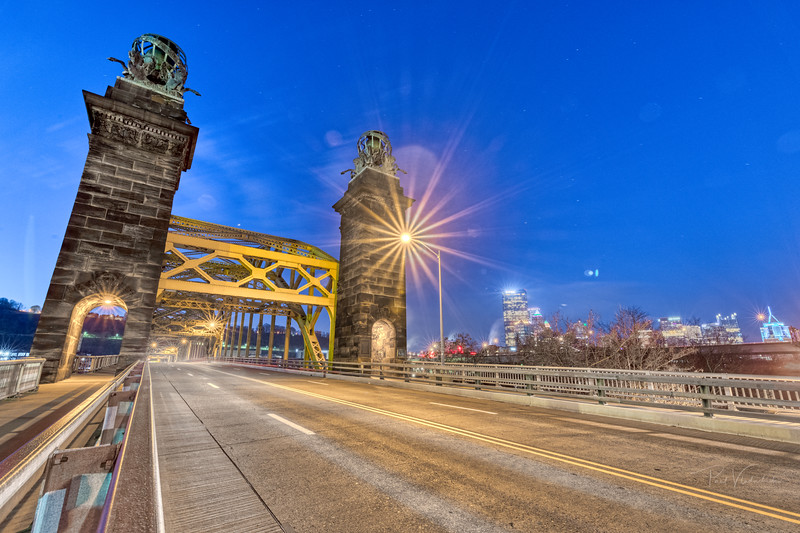 16th Street Bridge Just Before Dawn - Pittsburgh Pennsylvania