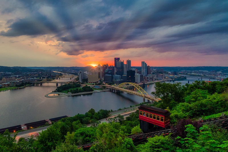 Sunrise over the City - Pittsburgh Pennsylvania