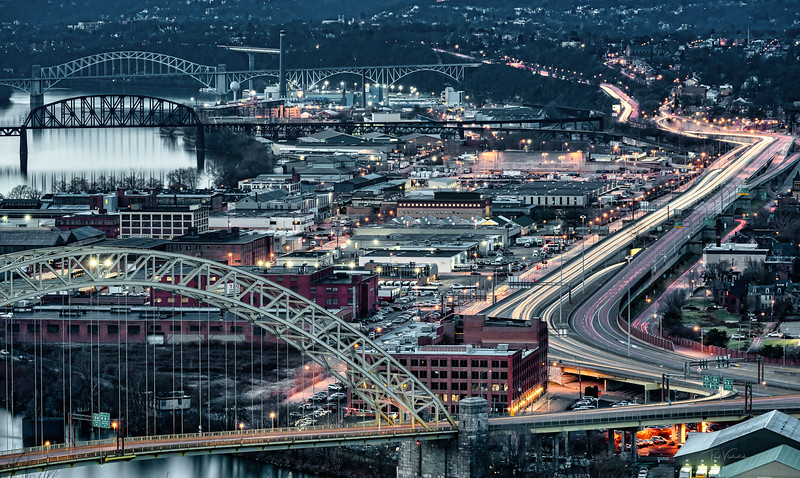 Looking North West for 245 Seconds - Pittsburgh Pennsylvania