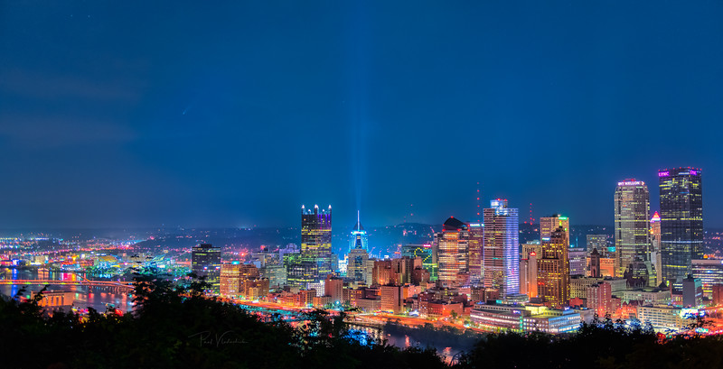 Comet NEOWISE over Pittsburgh from Emerald Overlook Park