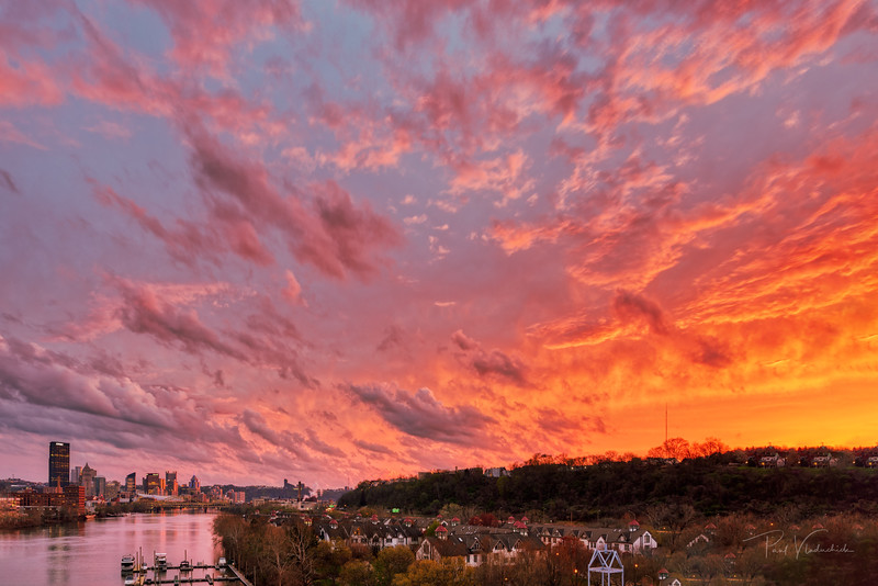 Sunset over Pittsburgh