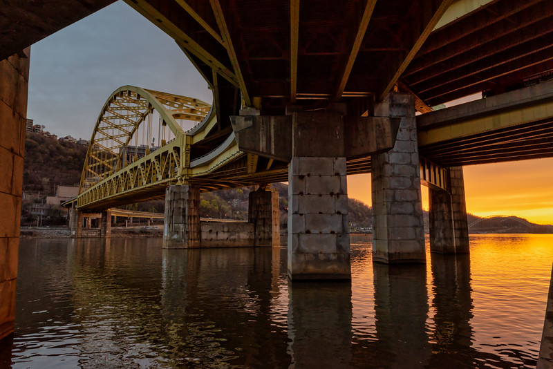 Fort Pitt Bridge at Sunset - Pittsburgh Pennsylvania