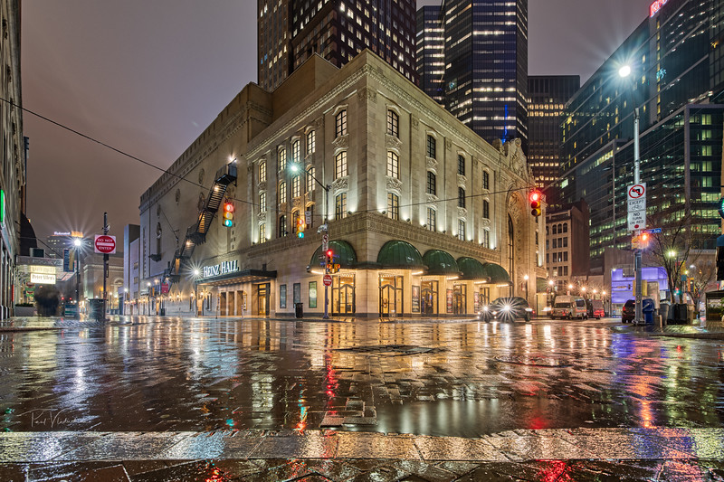 Heinz Hall in the Rain