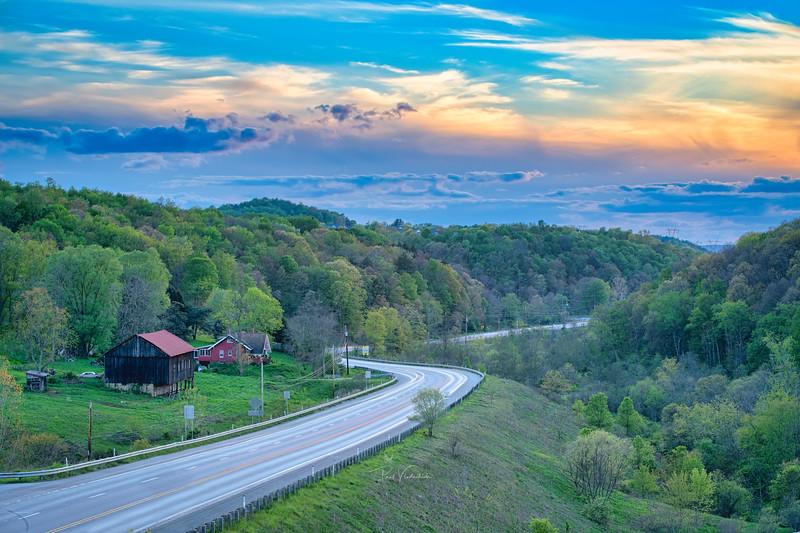 Entering the Ohio Valley, Near Pittsburgh Pennsylvania