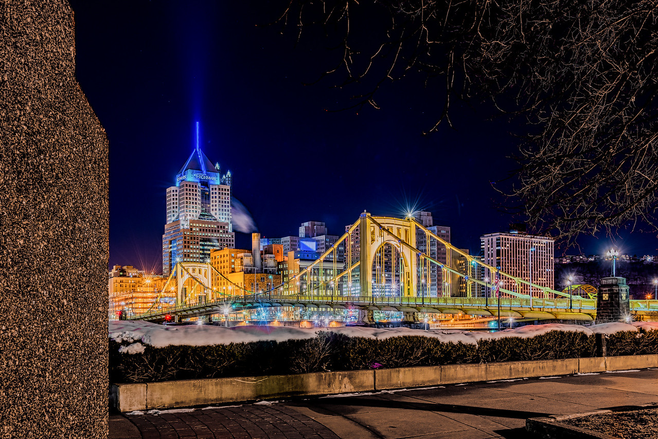 Allegheny Landing on a Clear Night - Pittsburgh Pennsylvania