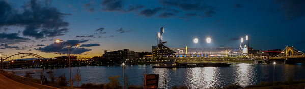 PNC Park on the Allegheny River, Pittsburgh, PA