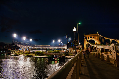 PNC Park from the Roberto Clemente Bridge, Pittsburgh, PA