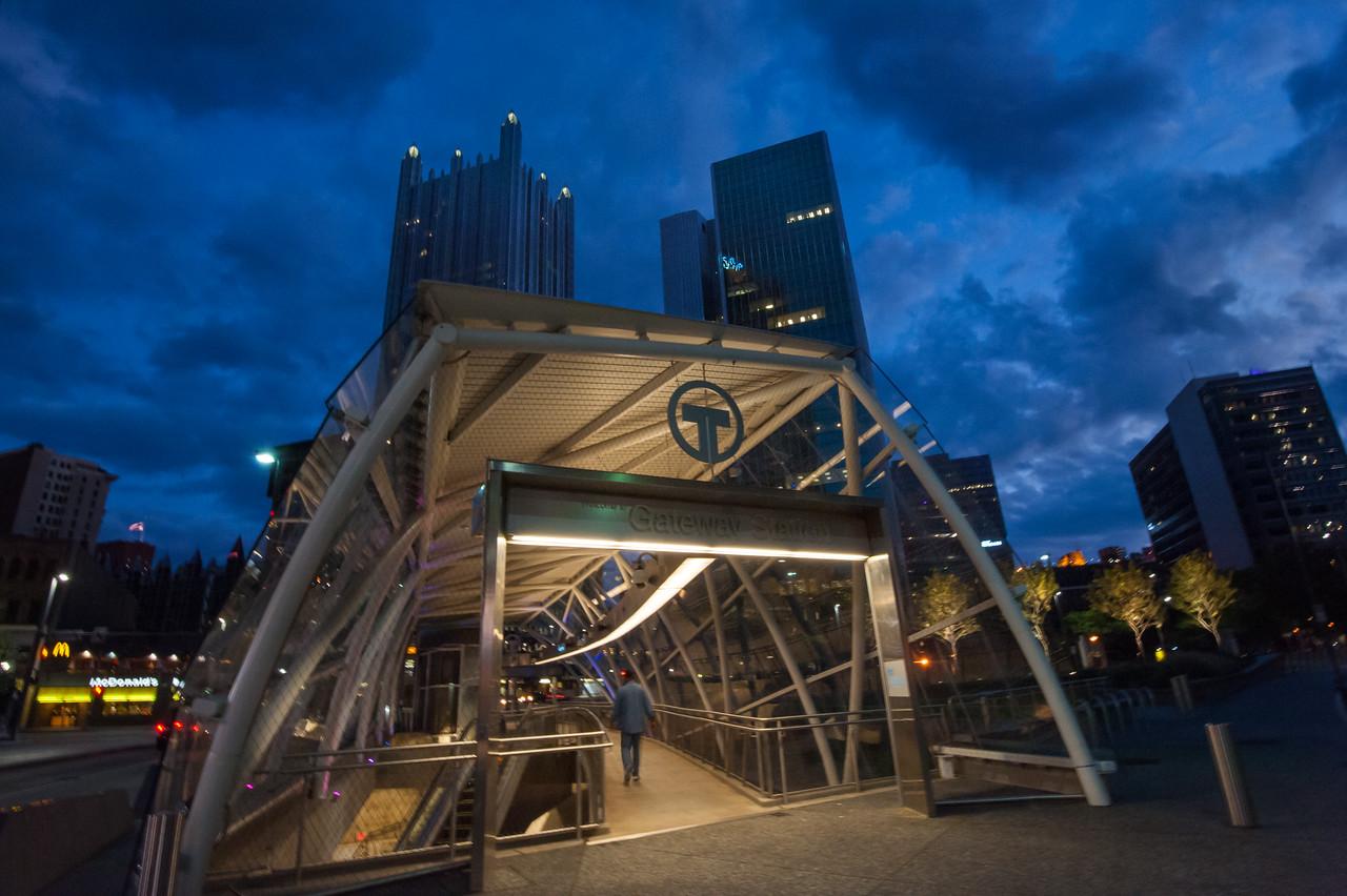 Gateway T station, Pittsburgh, PA
