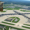 Pitt Airport (aerial) with Sign (full)