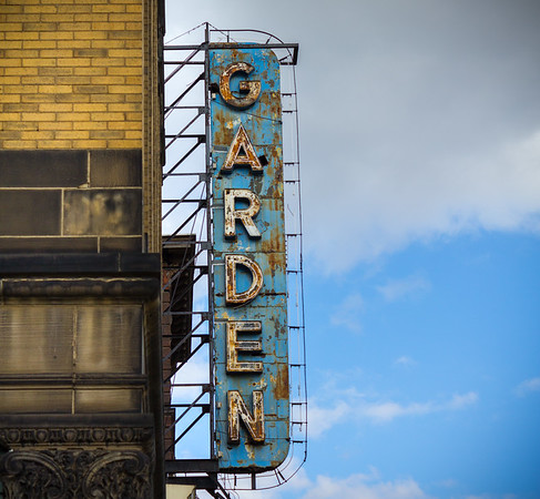 Last sign of the Garden Theater