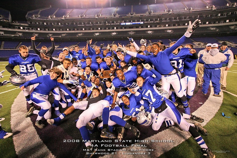 The 2008 Sherwood High School Footbal Team - Maryland State 4A Champions.
