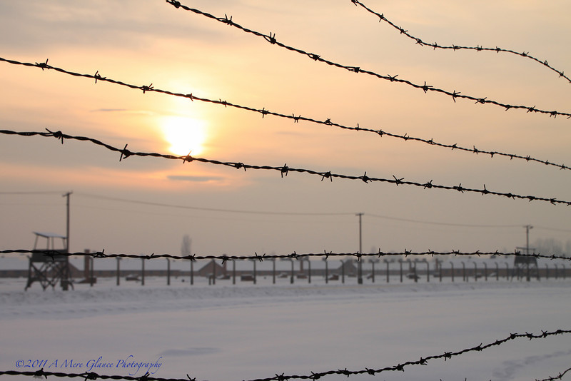 Sunset on Horror<br /> Auschwitz-Birkenau, Poland
